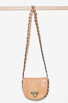 Nasty Gal x Nila Anthony Croc Out Crossbody Bag