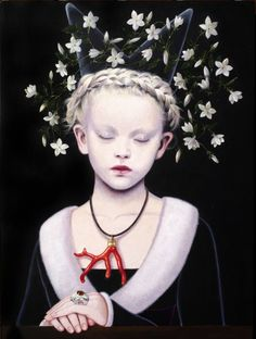 """Saatchi Art Artist Titti Garelli; Painting, """"POUNOU MYSTIC QUEEN"""" #art"""