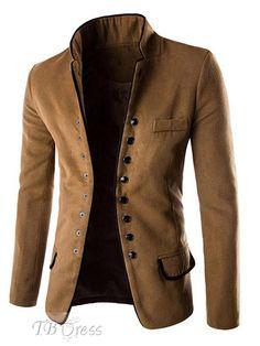 stand collar single breasted men's blazer - Google Search
