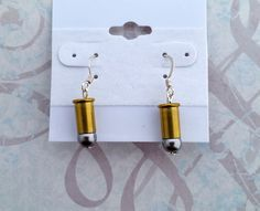 Gray Pearl Bullet Earrings Bullet Earrings Bullet by blazingembers