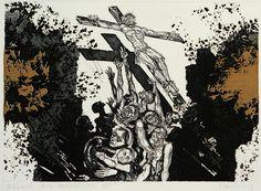 На кресте. Офорты Андрея Харшака