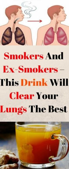 How the smokers and ex smokers clear the lungs by this drink A carefully blended homemade detox tea can be a nice way for you to enjoy a wonderful, natural body cleanse while also losing weight. Home Remedies, Natural Remedies, Health Remedies, Cough Remedies, Holistic Remedies, Lunges, Health Tips, Health Benefits, Health Care