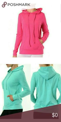 💥Coming Soon💥Pullover Hoodies NWT Cotton pullover hoodies. 95% Cotton, 5% Spandex. Color: Fuchsia Tops Sweatshirts & Hoodies