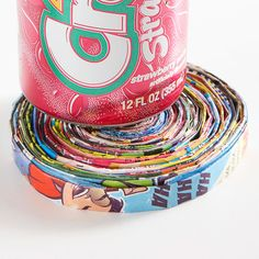 Turn old magazines into colorful and funky coasters.