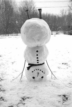 snow winter snowman snow man