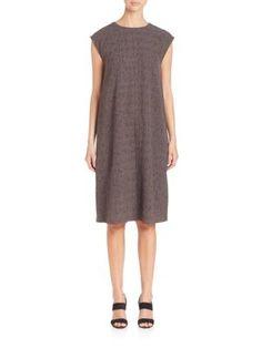 Eileen Fisher - Confetti Roundneck Silk Dress