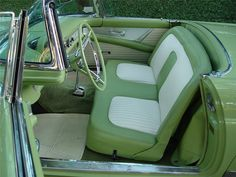 Mint Green Aesthetic, Aesthetic Colors, Aesthetic Pictures, Pretty Cars, Cute Cars, Verde Vintage, Old Vintage Cars, Sage Color, Classy Cars