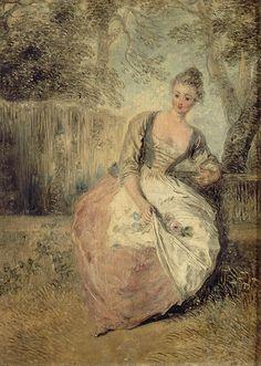 Domaine de Chantilly_  The Anxious Lover, Jean-Antoine Watteau (1715-1717)