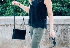Cargo slim HARPER kaki Cimarron jeans sur le blog  About a girl #jessaboutagirl #fashionblogger #outfitshare #blogger #denim #jeans #look #cimarronjeans #cimarronparis