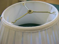 Intrigue Designs: A Shade Better ~ How to make a Box Pleated Lampshade