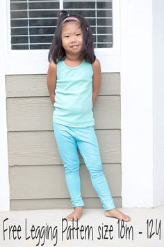 Sewing For Kids Clothes free classic legging pattern for girls sewing pattern and tutorial from Life Sew Savory - Sewing Patterns For Kids, Sewing Projects For Kids, Sewing For Kids, Free Sewing, Sewing Ideas, Sewing Tips, Clothes Patterns, Baby Leggings, Girls Leggings