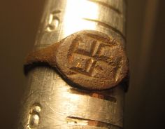 Medieval Crusader Religious Ring from Germany from the 12th. to 14th. C. in size 5.5 - Possible Knights Templar or Teutonic Knights by AncientEvenings on Etsy https://www.etsy.com/listing/210813355/medieval-crusader-religious-ring-from