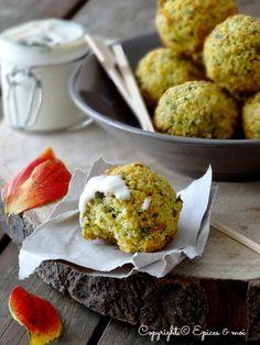 Recette Sans Gluten et Vegan : {Falafels au butternut, et dip au yaourt et clémentines } - Épices et Moi