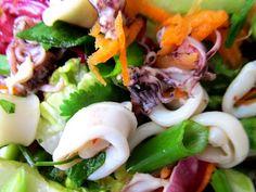 Spicy Thai Squid (Calamari) Salad