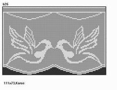 Filet Crochet, Crochet Patterns Filet, Crochet Curtain Pattern, Crochet Curtains, Crochet Diagram, Crochet Motif, Crochet Doilies, Cross Stitch Patterns, Cross Stitch Bookmarks