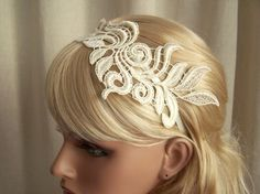 This gorgeous lace headband would be so easy to make yourself! AND you could probably do whatever color you want!
