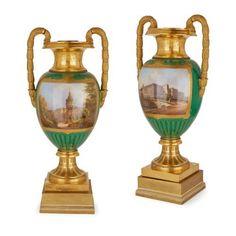 Pair of important KPM porcelain vases of royal provenance | By KPM, Konigliche Porzellan-Manufaktur (German, founded 1763) | German | c. 1850. More details online at mayfairgallery.com