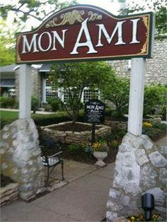 Mon Ami Restaurant & Winery  Catawba Island, OH....I love this place..relaxing with a glass of wine and good food!