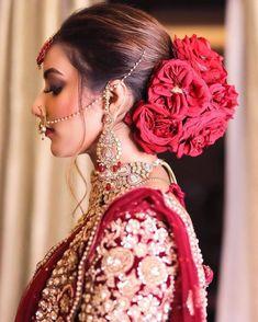 Bridal Hairstyle Indian Wedding, Pakistani Bridal Makeup, Bridal Hair Buns, Bridal Hairdo, Indian Bridal Hairstyles, Bridal Photoshoot, Bridal Hair And Makeup, Bride Makeup, Indian Bride Hair