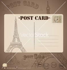 Vintage postcard designs vector by jannoon028 on VectorStock®