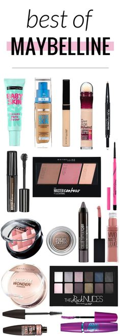 The best of Maybelline makeup - great reference for when you& out shopping. - - The best of Maybelline makeup - great reference for when you& out shopping! Drugstore Makeup Dupes, Makeup Brands, Best Makeup Products, Make Up Products, Best Makeup Primer, Mac Makeup, Best Of Makeup, Makeup Eyeshadow, Best Highlighter Makeup