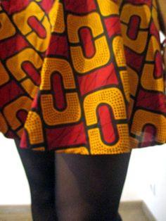 diy jupe patineuse tissu wax africain