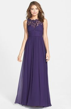 Aidan Mattox Embellished Lace & Silk Chiffon Gown (Online Only) on shopstyle.com