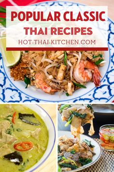 Pad thai, green curry, pad see ew...you name it. Here are authentic Thai recipes for all the popular beloved Thai dishes. With full video tutorials you're guaranteed to be successful at creating your favourites at home!| how to make authentic Thai food |how to cook authentic Thai food Thai Dishes, Dinner Dishes, Thai Recipes, Asian Recipes, Pad See Ew, Authentic Thai Food, Green Curry, Easy Food To Make, Video Tutorials