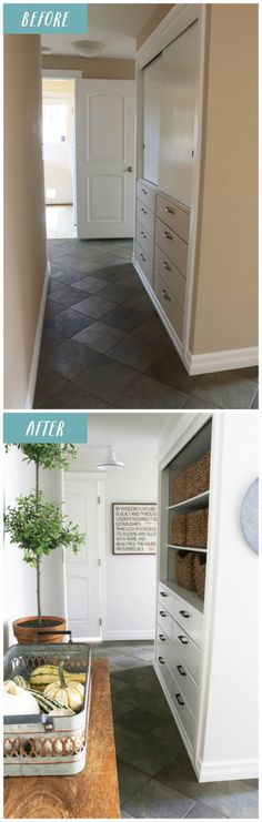 Little changes make a big impact in this small hallways! Sources and details in the post.