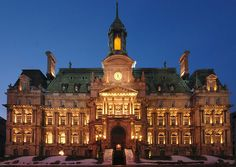 Most Beautiful City Halls In North America Buildings & Architecture Destinations, I Want To Travel, Most Beautiful Cities, Places Of Interest, Montreal, North America, To Go, Louvre, Old Things