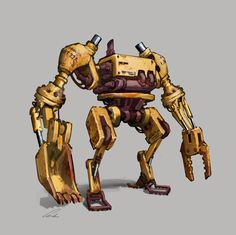 Industrial Bot by Docslav---GE on deviantART