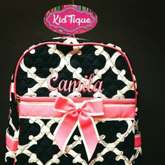 Alway free embroidery kids quilted backpacks go go bags great toddler gifts #KidTiqueofMcallen