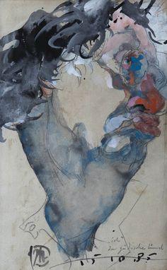 Gouache, Watercolor Artwork, Watercolor Paper, Horst Janssen, Illustrator, India Ink, Museum, Magazine Art, Art Market