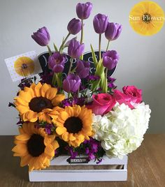 All About You Creative Flower Arrangements, Silk Arrangements, Sunflower Centerpieces, Flower Packaging, Nature Wallpaper, Ikebana, Diy Flowers, Birthday Decorations, Beautiful Flowers