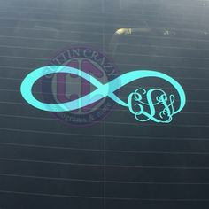 Infinity sign with monogram. #infinitysign #monogram #cuttincrazy #happycustomer www.etsy.com/shop/cuttincrazy