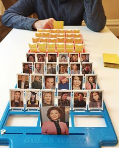 LOVE this idea of a DIY Guess Who? game, using your favourite movie or TV characters. We will play this all Summer long!