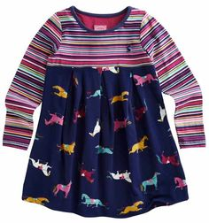 Get ready for the the cooler months with the Hayley Long Sleeve Tunic by Joules. This great cotton dress is striped on top and features a colorful pony print with a navy background on the bottom. Pair this tunic with Joules Junior Jodding Leggings and some cute Joules Wellies!   http://www.tackroominc.com/joules-junior-hayley-long-sleeve-tunic-navy-p-17366.html
