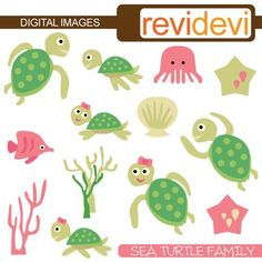 Clipart Sea Turtle Family. Cute sea turtle family clip art in pink and green lime.This cute digital clipart set is great for teachers and educators. The collection is suitable for school and classroom projects such as for bulletin board, learning printable, worksheet, classroom decor, craft materials, activities and games, and for more educational and fun projects.You will receive:- Each clipart saved separately in PNG format, 300 dpi with transparent background.- Each clipart saved ...