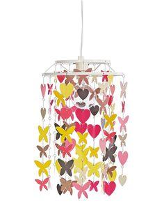 Zauberhafter Lampenschirm 'Herz und Schmetterlinge' von Vertbaudet