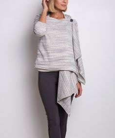 Look at this #zulilyfind! Black & White Stripe Jocelyn Cardigan #zulilyfinds