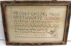 Framed Alphabet Embroidery