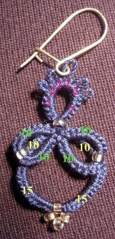 Tatting Earrings, Tatting Jewelry, Tatting Lace, Crochet Earrings, Needle Tatting Patterns, Modern Jewelry, Hair Pins, Needlework, Weaving