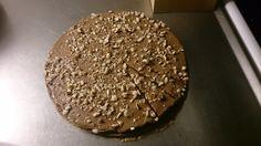 Chocolate and Nougat cake with chopped hazelnuts on top. #kenwoodchefsense