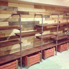 Pallet wall storage unit