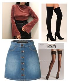 """""""🍁🍂"""" by mervecet ❤ liked on Polyvore featuring Wolford, LE3NO and Bamboo"""