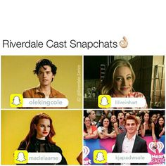"2,441 Likes, 52 Comments - Riverdale ♔ (@riverdale.series) on Instagram: ""I've compiled everyone who has snapchat. @kjapa: kjapadwsole @lilireinhart: lilireinhart…"""