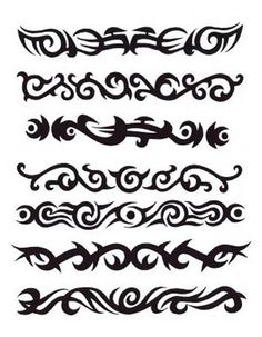 Celtic Armband Tattoo-I so want the next to bottom one.
