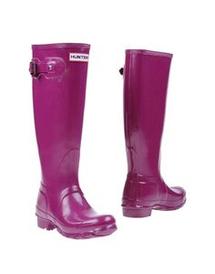 HUNTER Boots in one of the jewel tones...this purple, teal or a darker red.