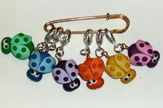 Stitch Markers PASTRY SHOP for Knit or Crochet set by fcwhimsey