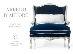 Invite the pure elegance in your living room with the Bergere chair realized by Roberto Giovannini